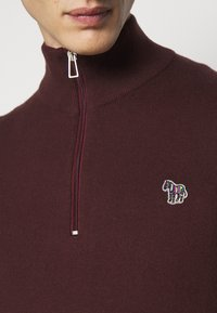 PS Paul Smith - MENS ZIP NECK ZEBRA - Jumper - dark red - 4