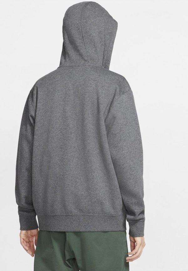 Nike Sportswear CLUB HOODIE - Bluza rozpinana - charcoal heather/anthracite/white/antracytowy Odzież Męska GYHD