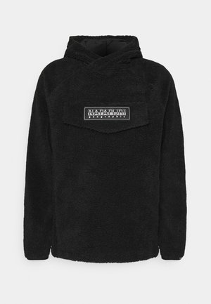 PATCH CURLY UNISEX - Kapuzenpullover - black