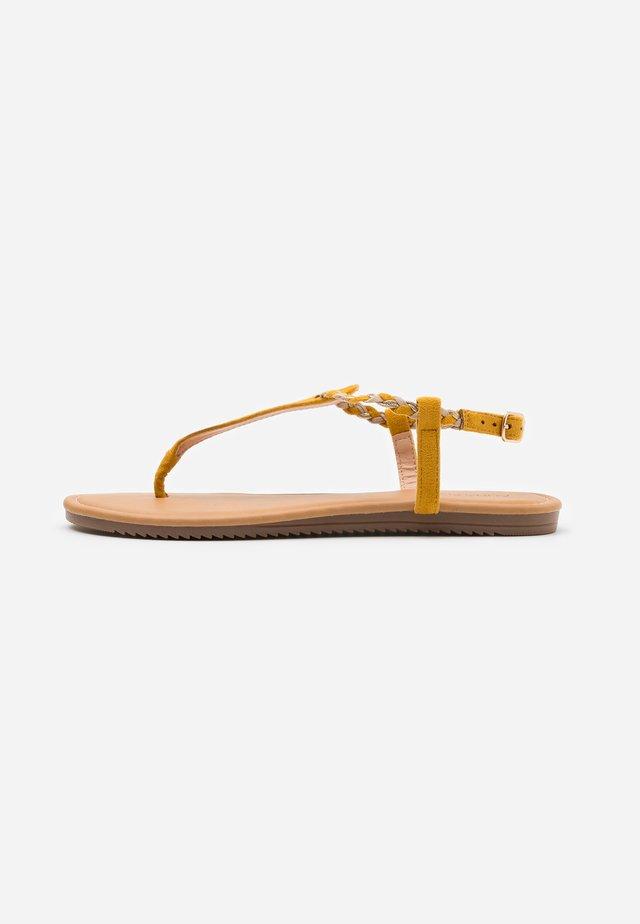 Sandalias de dedo - yellow