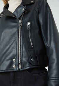 PULL&BEAR - Faux leather jacket - black - 5