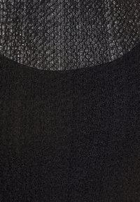 Topshop - TEXTURED PUFF SLEEVE MIDI - Denní šaty - black - 7