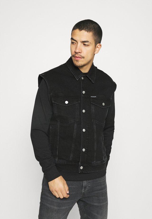 MODERN ESSENTIAL - Waistcoat - black