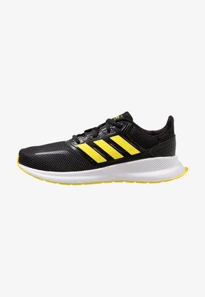 RUNFALCON UNISEX - Neutral running shoes - core black/shock yellow