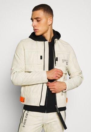DIXON JACKET - Leather jacket - off-white