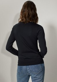 Massimo Dutti - Long sleeved top - black - 1