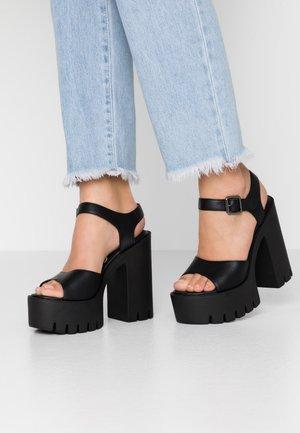 JALILA - Korolliset sandaalit - black