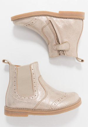 CHELYS BROGUE NARROW FIT - Classic ankle boots - gold