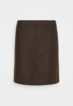 A-line skirt - dark chocolate