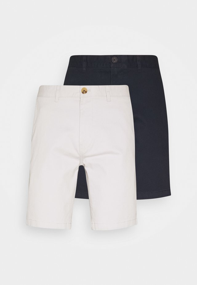 2 PACK  - Shorts - navy/grey