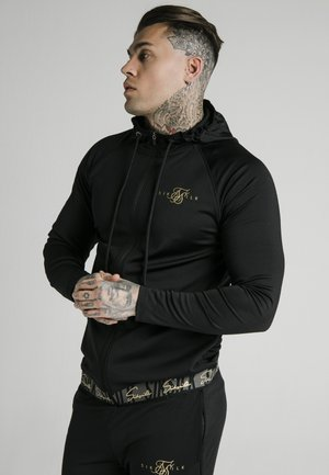 SCOPE TAPE ZIP THROUGH HOODIE - Hoodie met rits - black
