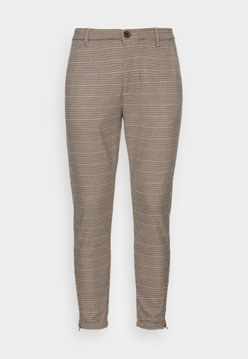 PISA VICHY PANT - Trousers - beige check