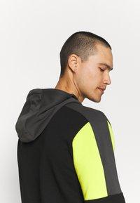Fila - PARSOM BLOCKED HOODY - Sweatshirt - black/asphalt/sulphur spring - 3