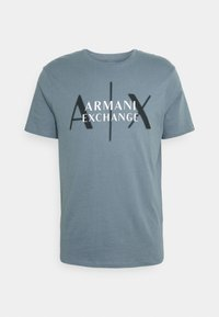 Armani Exchange - T-shirt med print - stormy weather - 4