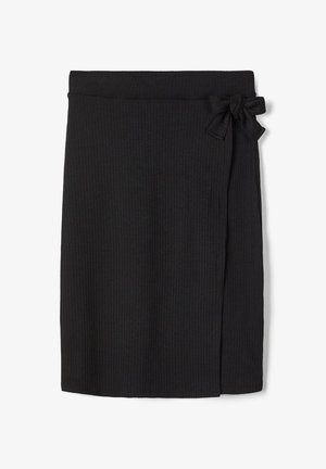 WICKEL - Wrap skirt - black