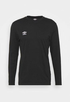 SMALL LOGO TEE - Langærmede T-shirts - black