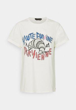 CROISSANT GLITTER BOXY TEE WOMEN  - T-shirt print - off white