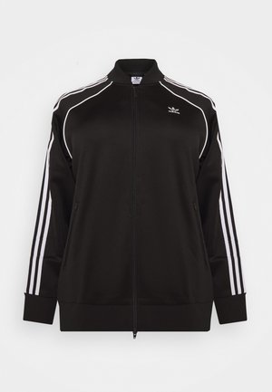 TRACKTOP - Bomber bunda - black/white