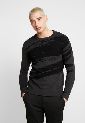 JPRBRUSH CREW NECK - Jumper - dark grey melange