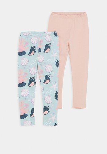 SHELLS 2 PACK - Leggings - Trousers - pink/light blue