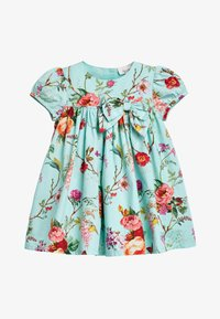 Next - TEAL FLORAL PROM DRESS WITH KNICKERS AND HEADBAND (0MTHS-2YRS) - Korte jurk - blue - 1