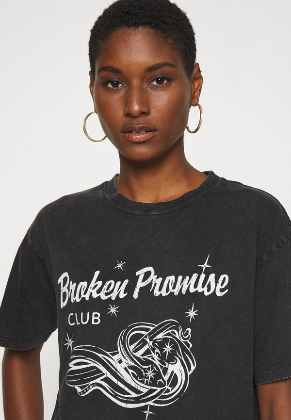 Replay T-shirt z nadrukiem - blackboard Nadruk Odzież Damska YIUQ VH 9