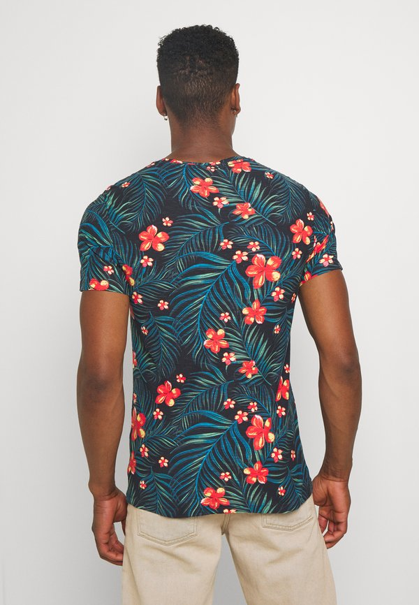 Blend T-shirt z nadrukiem - dark navy blue/granatowy Odzież Męska LYZX
