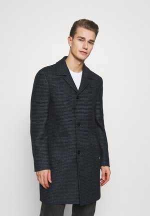 HOUNDSTOOTH DESIGN OVERCOAT - Classic coat - blue
