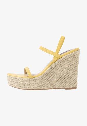 SKYLIGHT - Sandály na vysokém podpatku - yellow