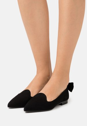 POINTY CLASSIC BOW - Ballet pumps - black