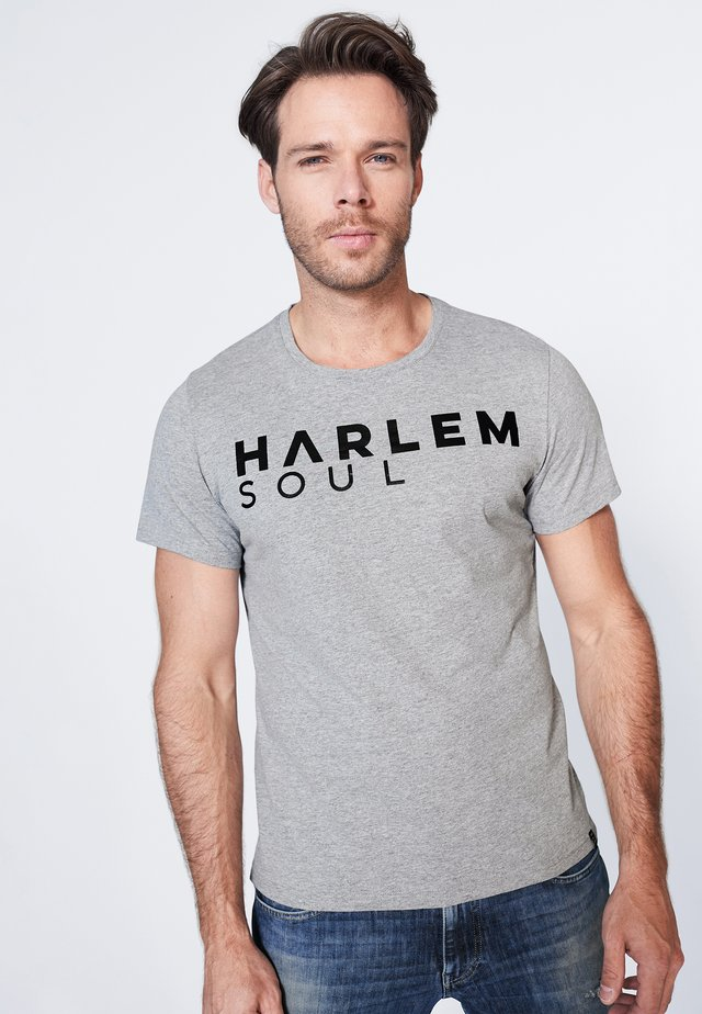 MEL-BOURNE - Print T-shirt - grey melange