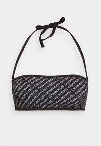 Calvin Klein Swimwear - CORE PRINT BANDEAU - Bikini top - black - 4