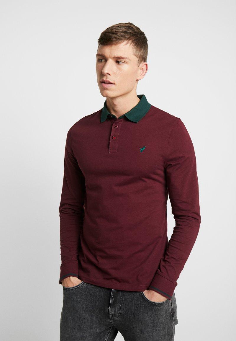 Pier One - MUSCLE FIT - Polo shirt - bordeaux