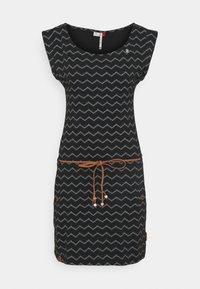 Ragwear - TAG CHEVRON - Žerzejové šaty - black - 4