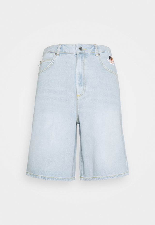 MEN'S ICON ANGELS - Shorts di jeans - light vintage
