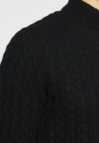 Selected Homme - SLHJOE CABLE ROLL NECK - Sweter - black - 5