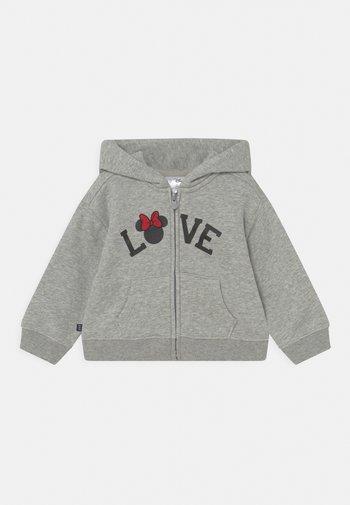 DISNEY MINNIE MOUSE FULL ZIP - Zip-up sweatshirt - mottled grey