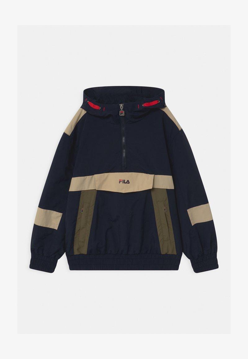 Fila - LAZARO HOODED - Training jacket - black iris-irish cream/grape leaf