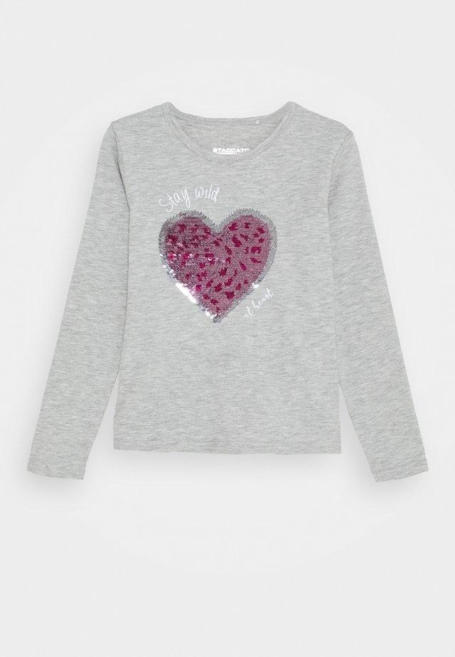 Långärmad tröja - silver melange