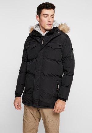 DOUBLE LAYERED ARCTIC - Zimní kabát - black