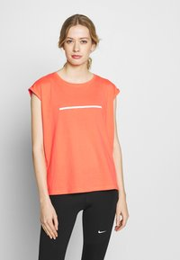 Even&Odd active - Print T-shirt - coral - 0