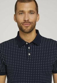 TOM TAILOR - Polo shirt - navy white minimal design - 3