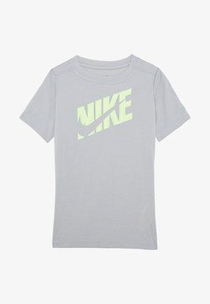 T-Shirt print - light smoke grey/ghost green
