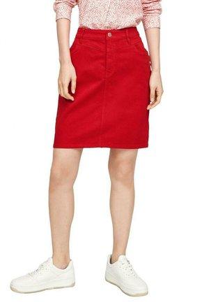 Denim skirt - rot