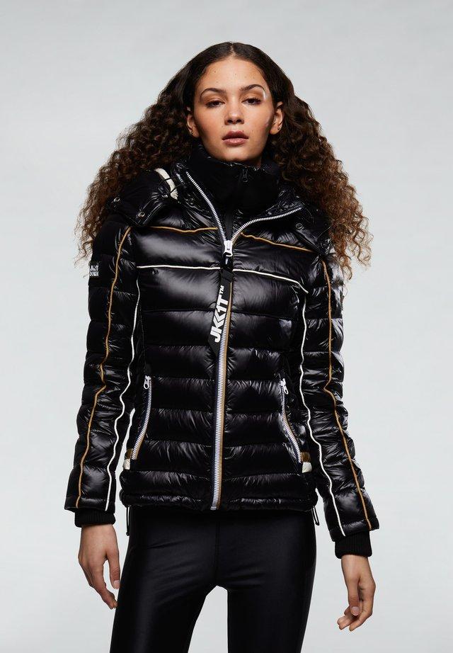 ASCENDER - Gewatteerde jas - black/gold