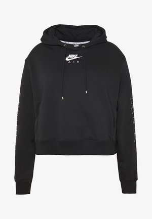 AIR HOODIE PLUS - Hoodie - black/ice silver