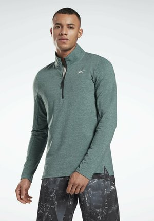 ACTIVCHILL+COTTON QUARTER-ZIP TOP - Sudadera - green