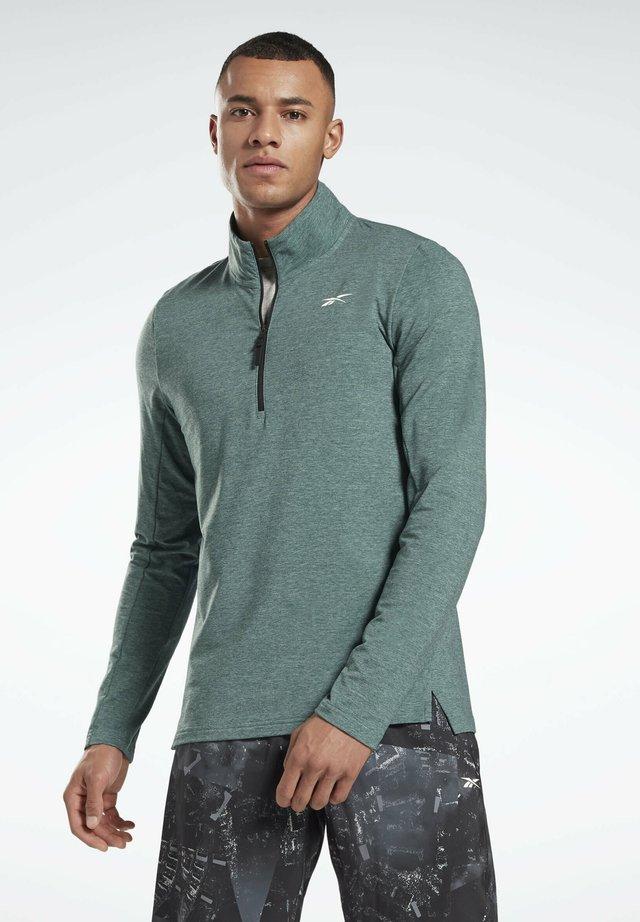 ACTIVCHILL+COTTON QUARTER-ZIP TOP - Sweater - green