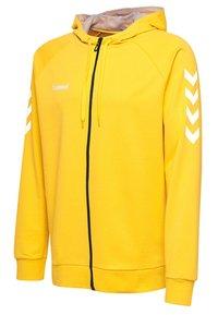 Hummel - HMLGO - Zip-up sweatshirt - yellow - 2