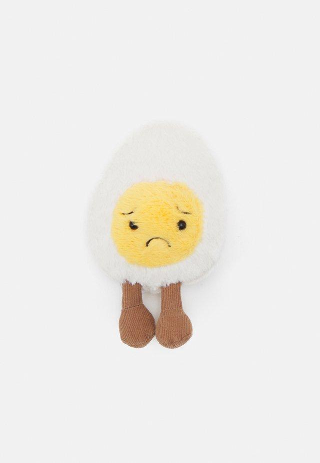 BOILED EGG SORRY - Pehmolelu - white